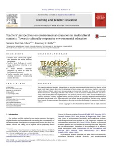 thumbnail of Teachers Perspectives on EE in Multicultural Contexts_Blanchet-Cohen